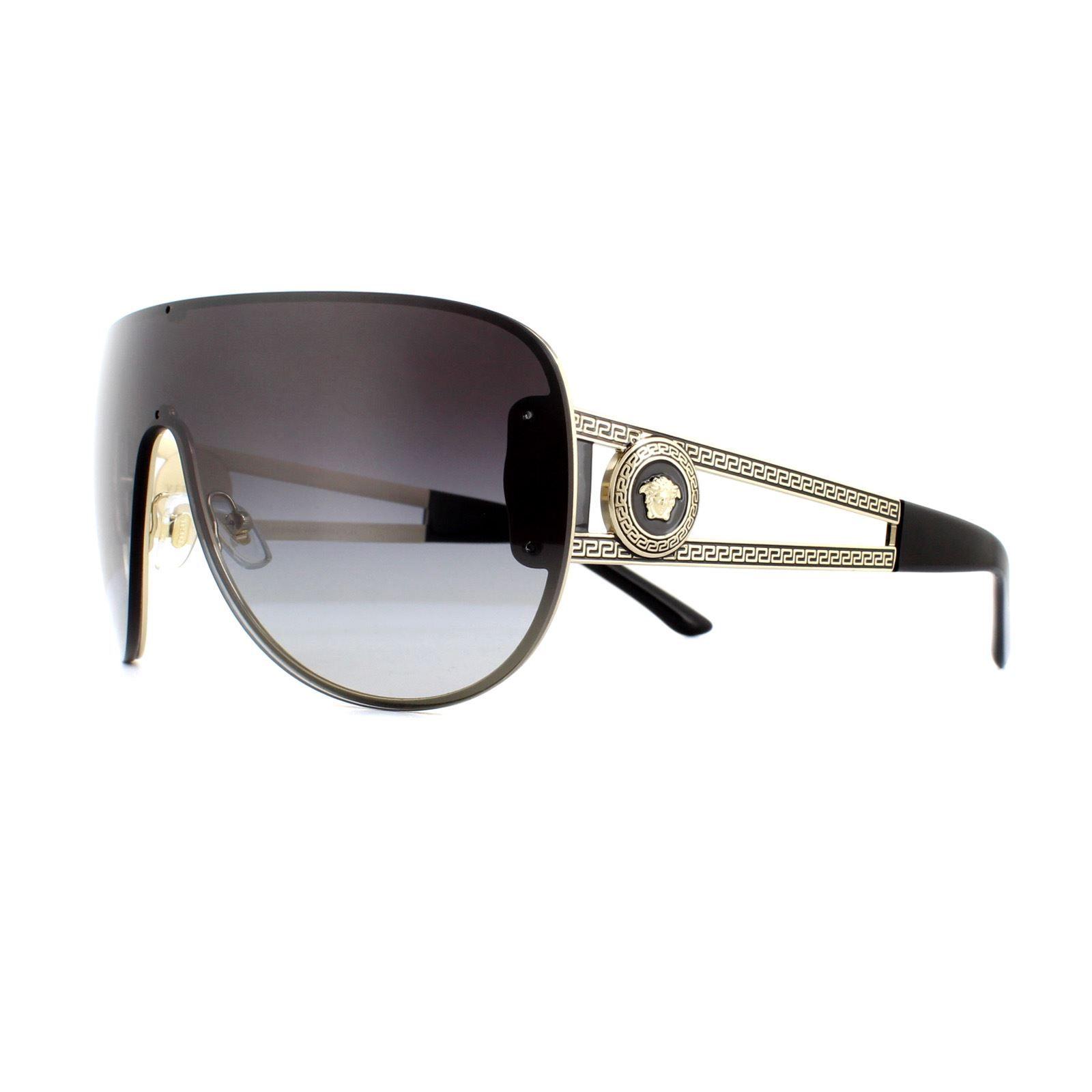 Versace Sunglasses VE2166 12528G Pale Gold Grey Gradient