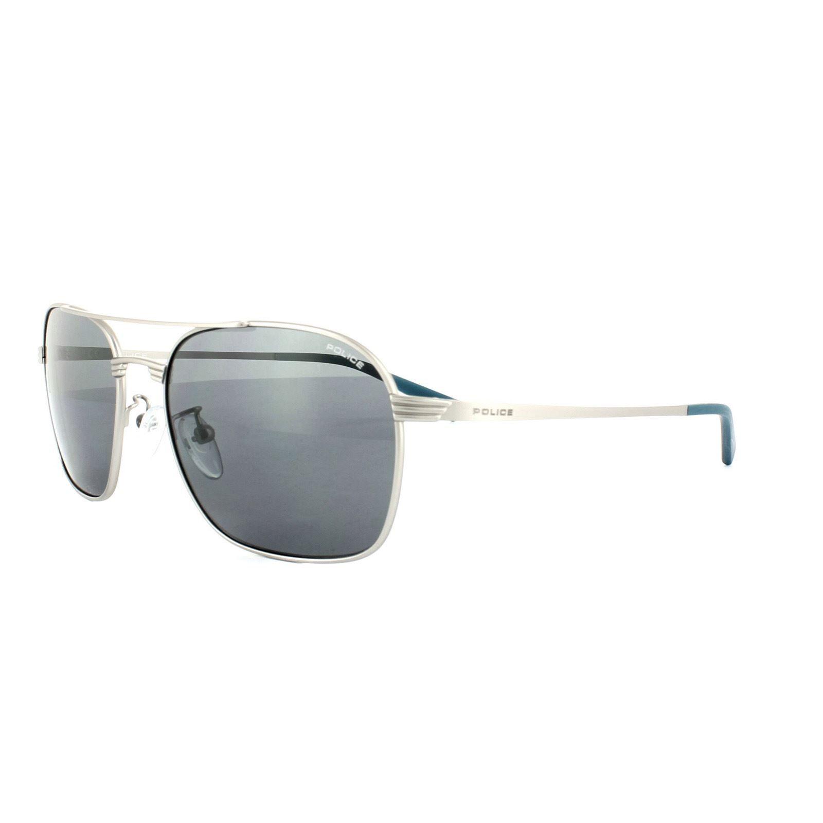Police Sunglasses S8952 Rival 1 581K Silver Grey