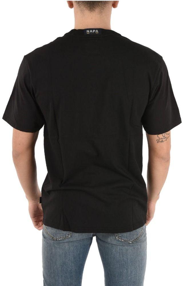 NAPAPIJRI MEN'S N0YIP4041 BLACK COTTON T-SHIRT