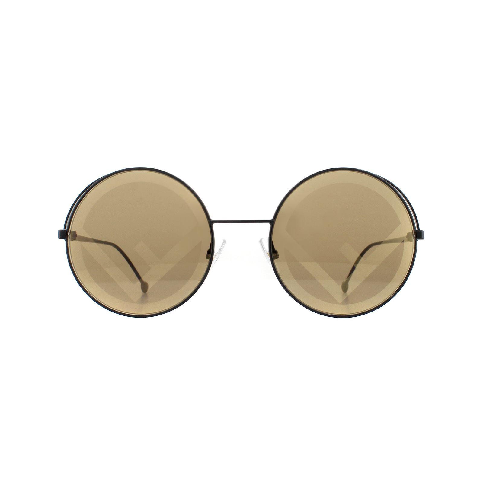 Fendi Sunglasses FF 0343/S Fendirama 807 EB Black Brown with Gold Fendi F