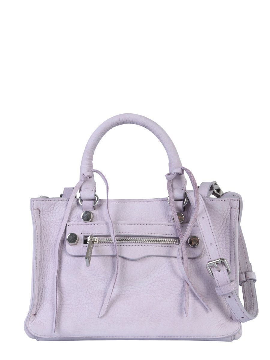 REBECCA MINKOFF WOMEN'S HH18ENUX61534 PURPLE LEATHER HANDBAG