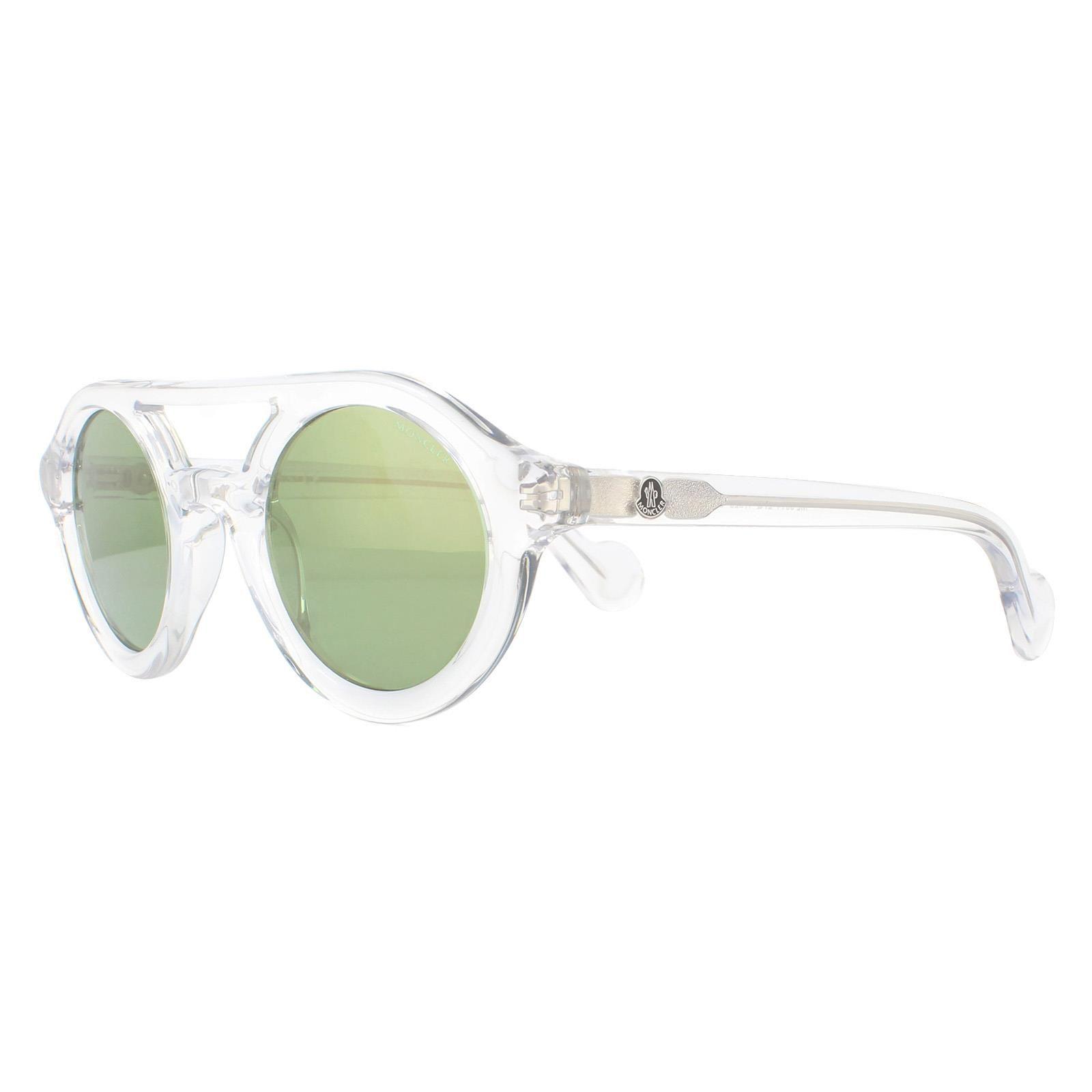Moncler Sunglasses ML0014 27Q Crystal Green Mirror