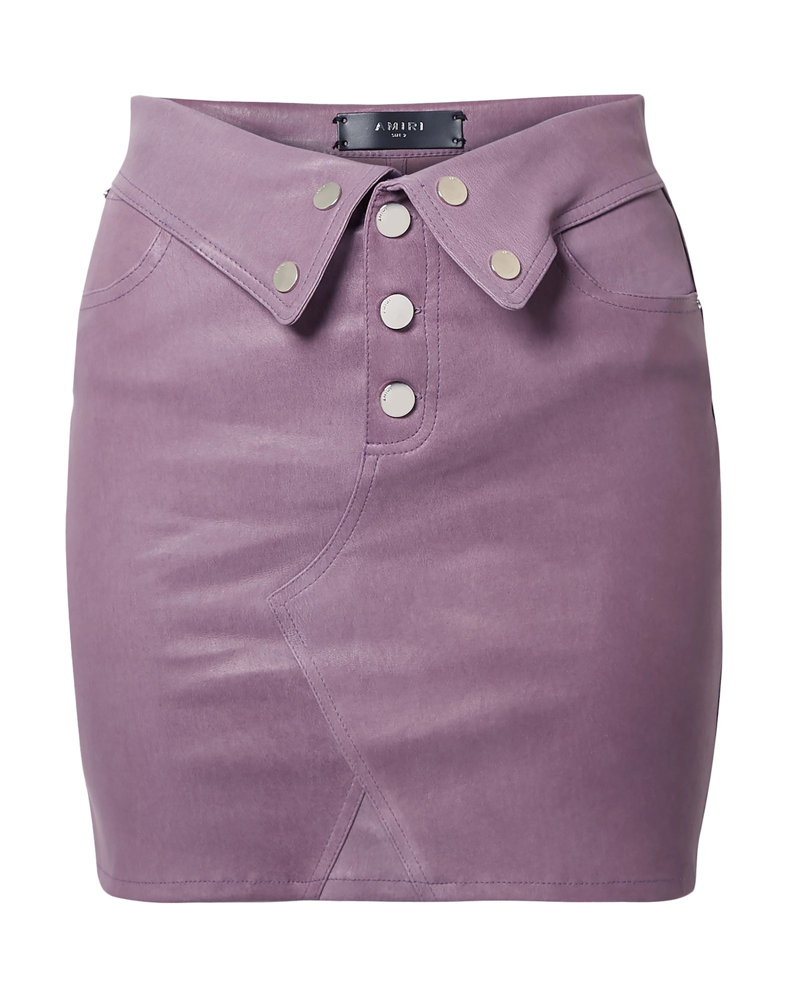 Amiri Women's Mini Skirt Kid Leather