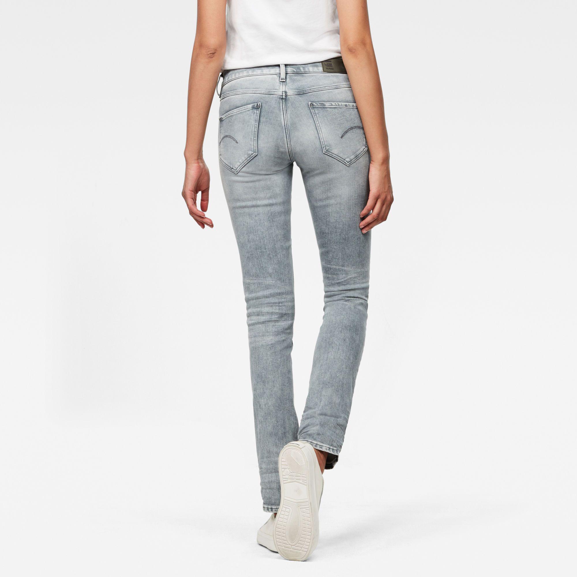 G-Star RAW Midge Mid Waist Straight Jeans