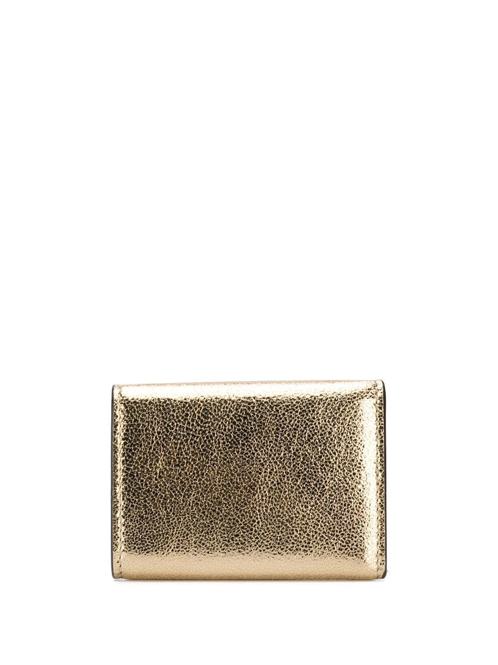 JIMMY CHOO WOMEN'S NEMOPQXGOLD GOLD LEATHER WALLET