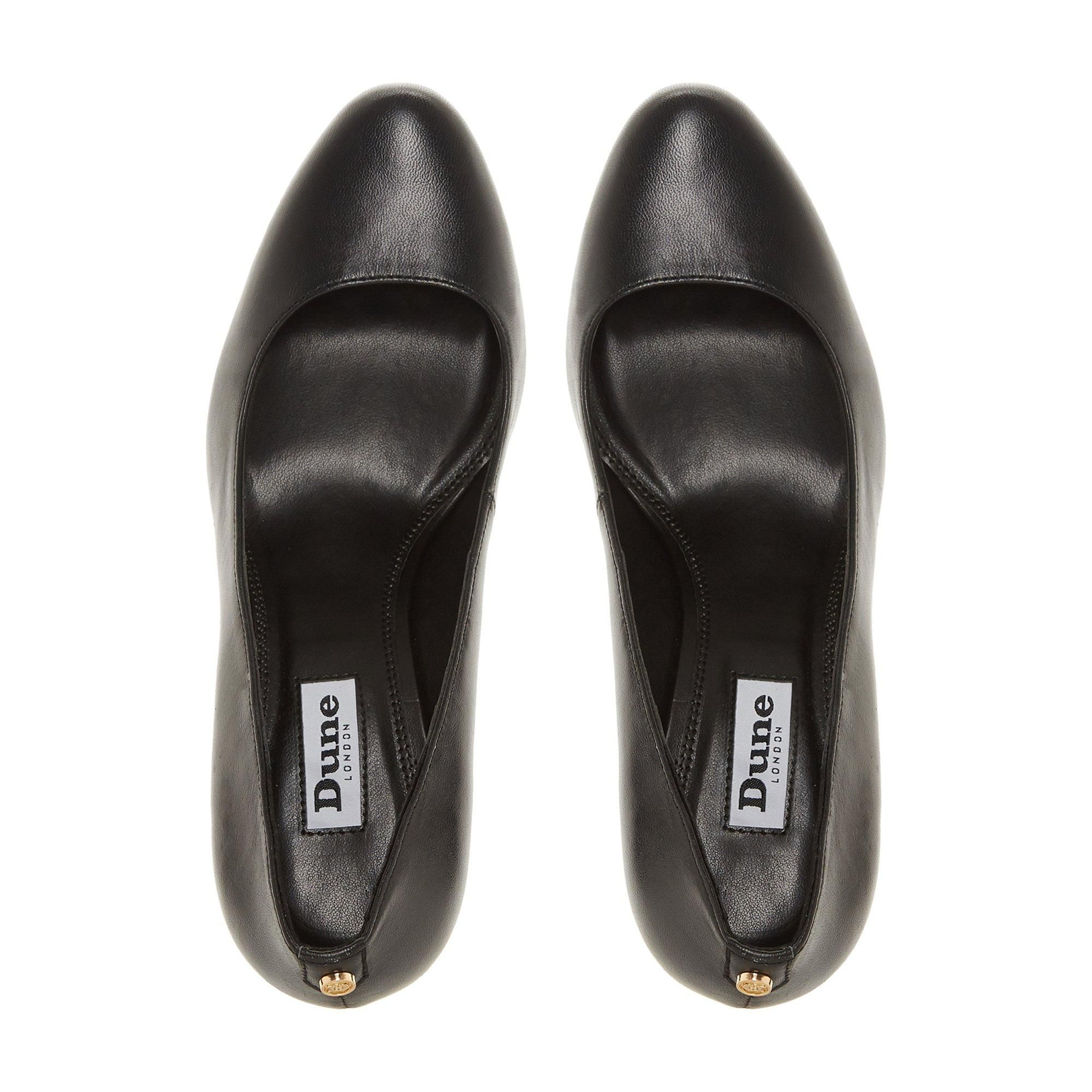 Dune Ladies ALIXXE Stacked Wedge Heel Court Shoes