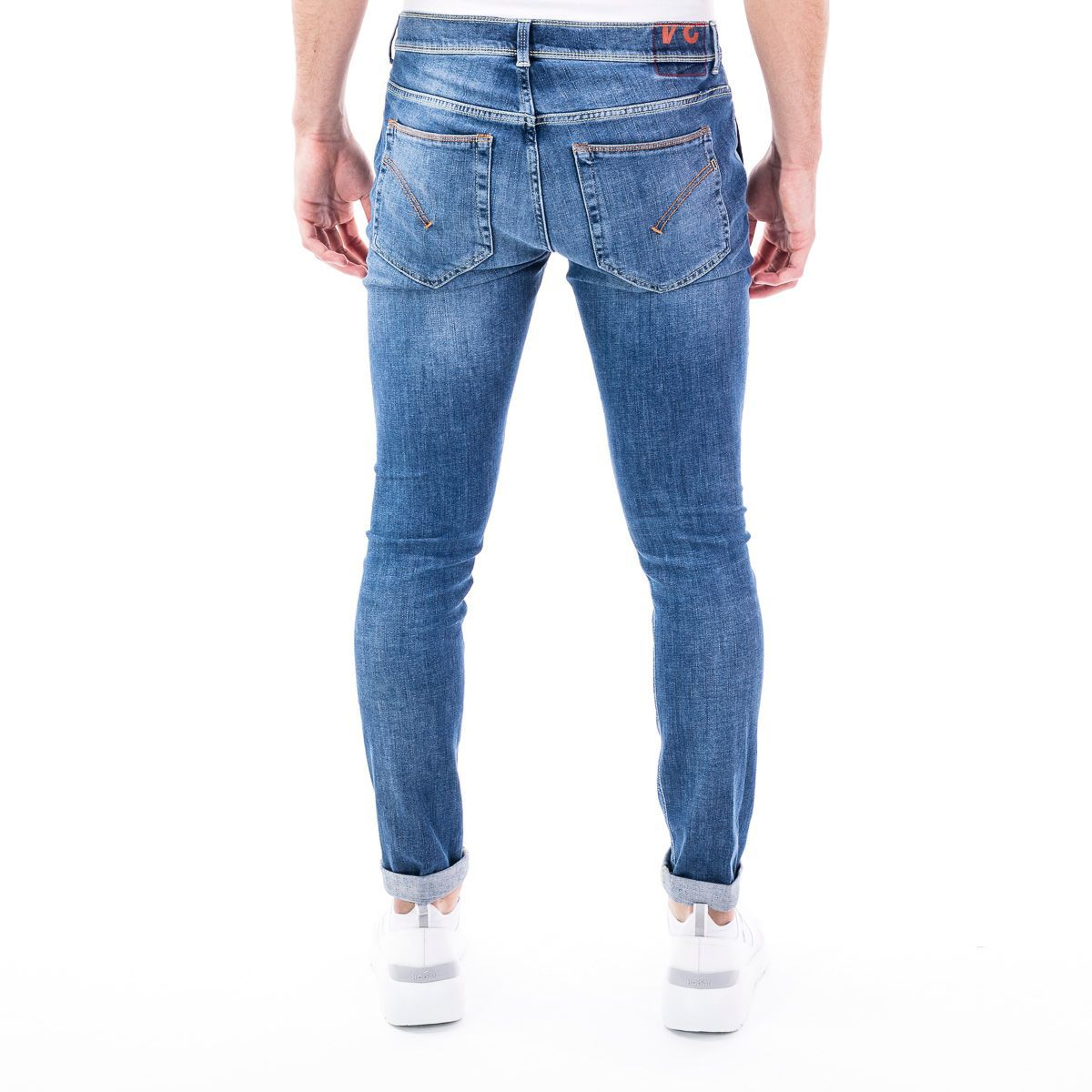 DONDUP MEN'S UP439DS0268AB5800 BLUE COTTON JEANS