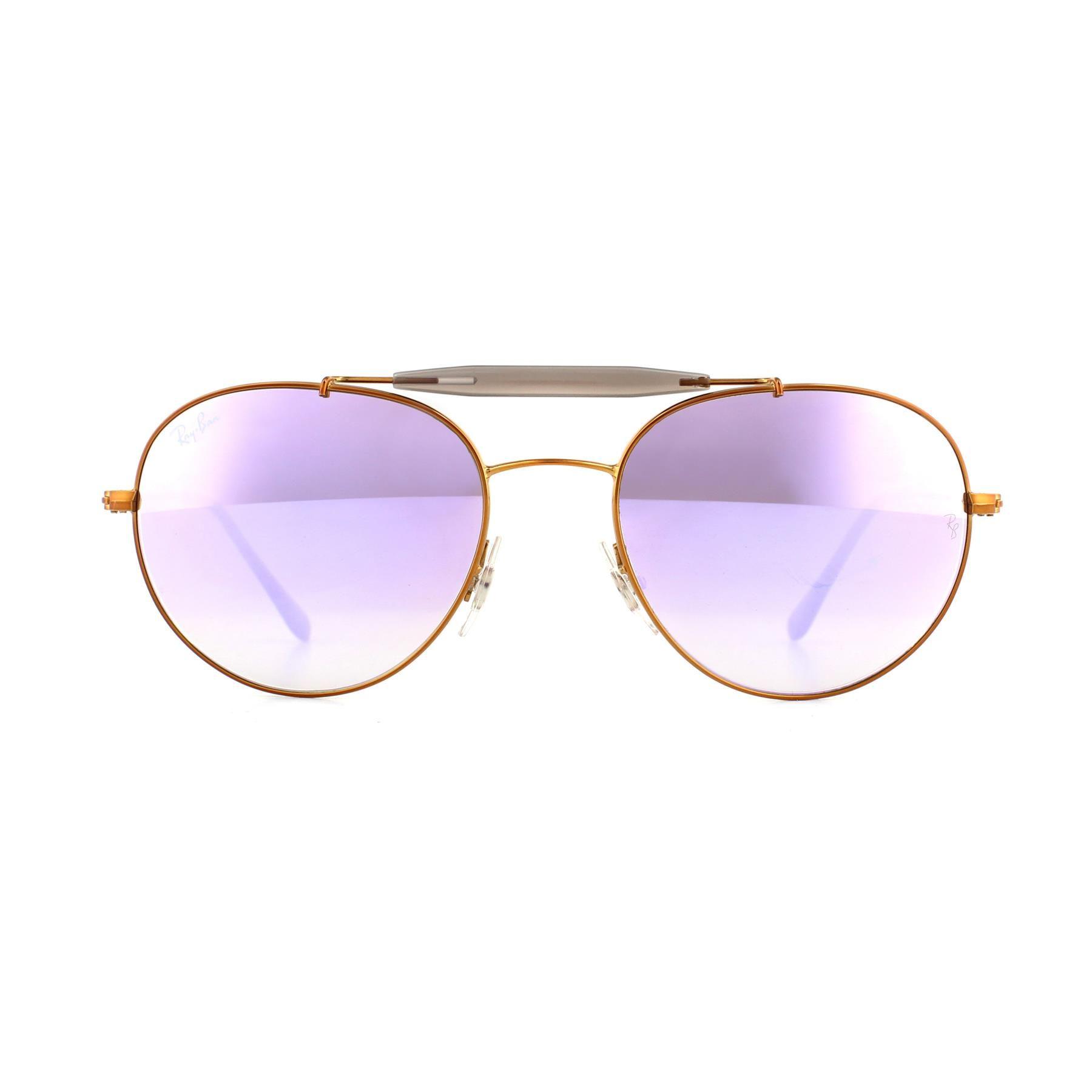 Ray-Ban Sunglasses 3540 198/7X Bronze Copper Lilac Gradient Mirror 56mm