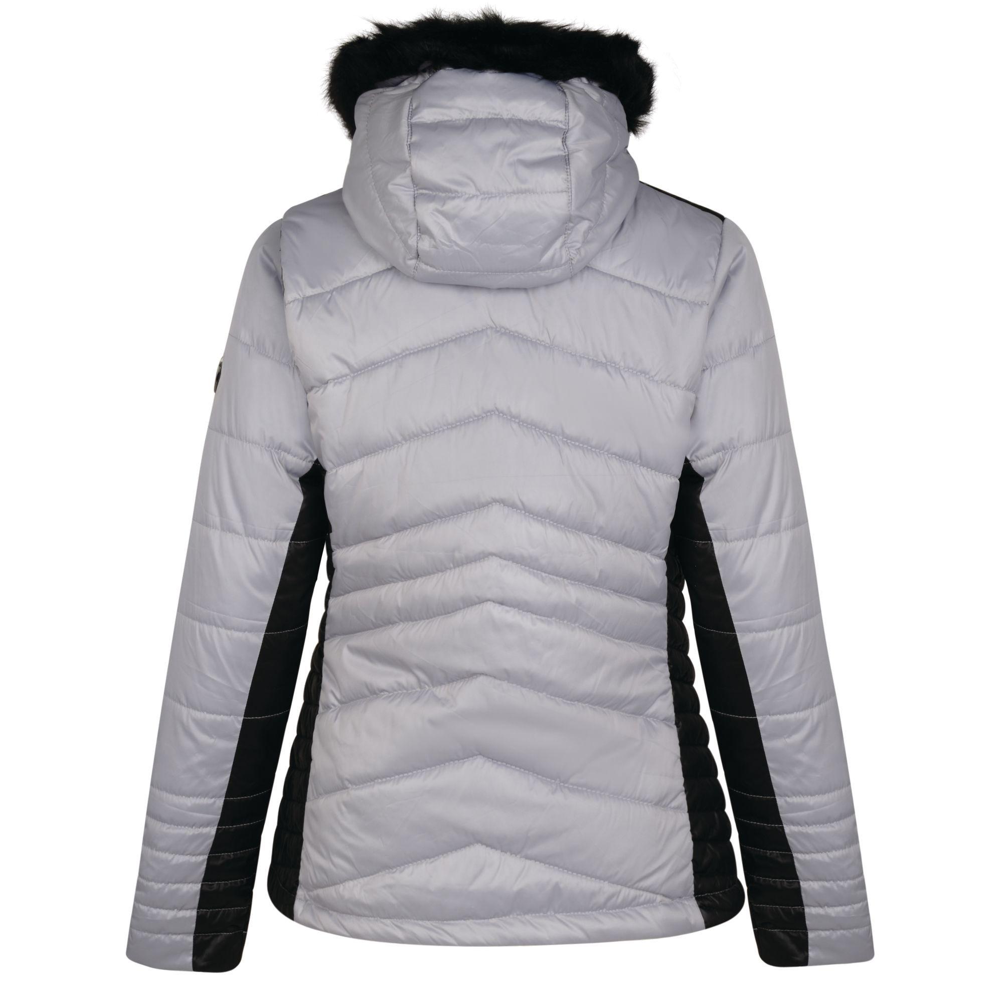 Dare 2b Womens/Ladies Comprise Luxe Ski Jacket (Silver Flash/Black)