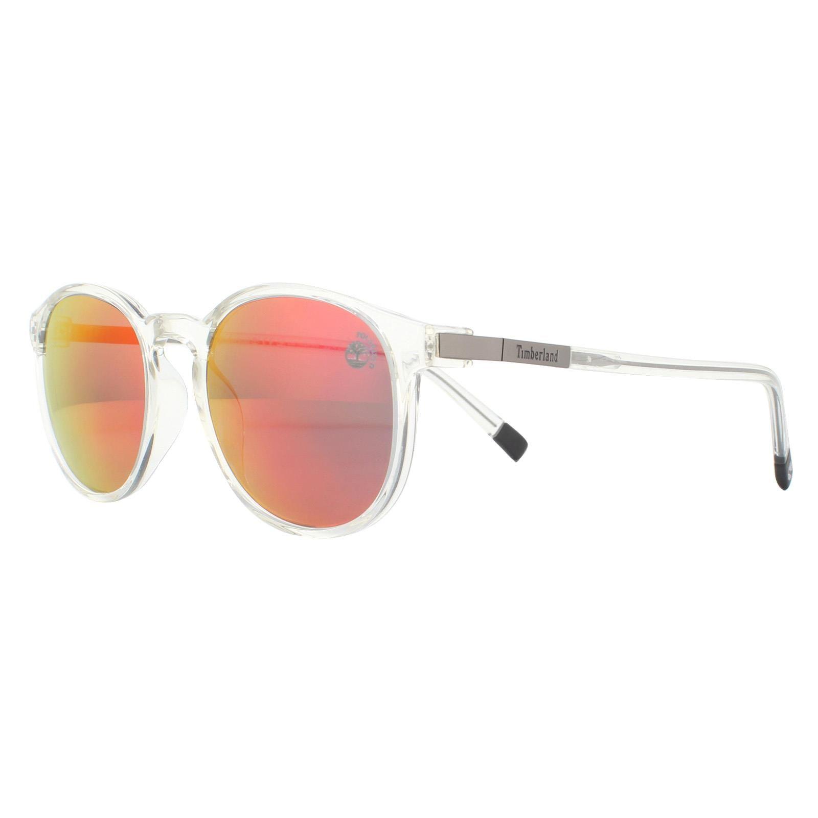 Timberland Sunglasses TB9151 26D Shiny Crystal Red Mirror Polarized