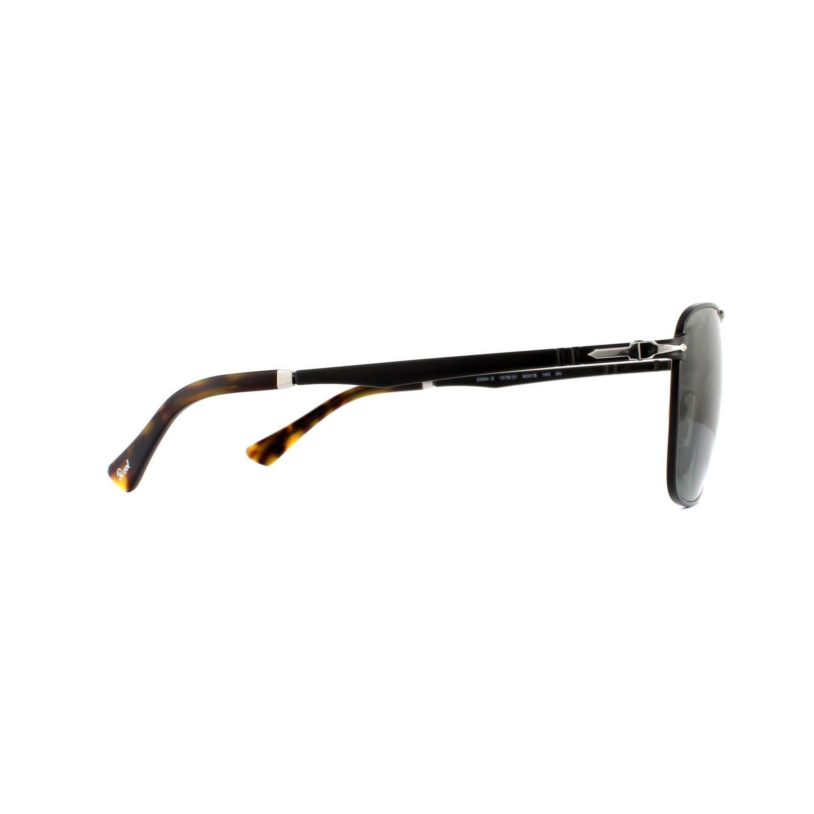 Persol Sunglasses PO2454S 107831 Demi Gloss Black Green