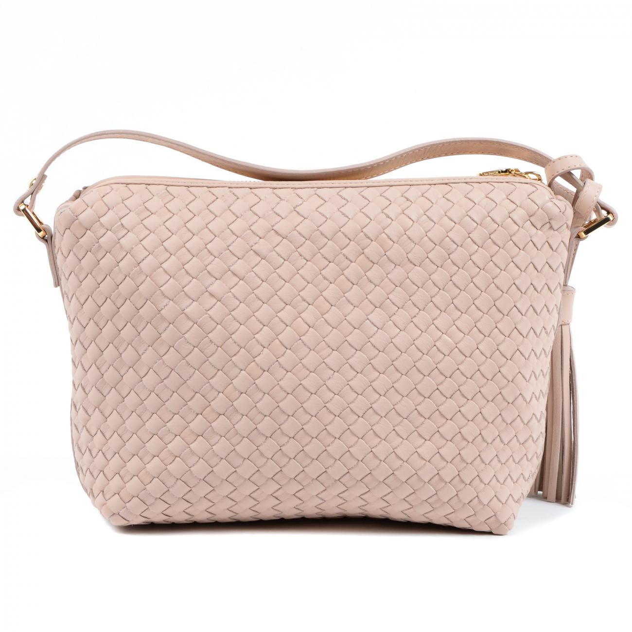 Dee Ocleppo Womens Bag GM1792 INTRECCIO MIAMI SILVER PINK