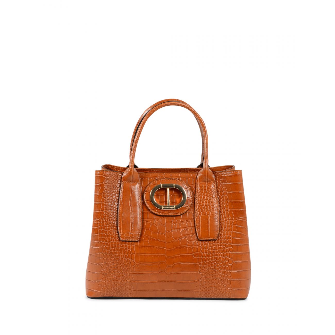Dee Ocleppo Womens Handbag DC1615 COCCO PRINT CUOIO