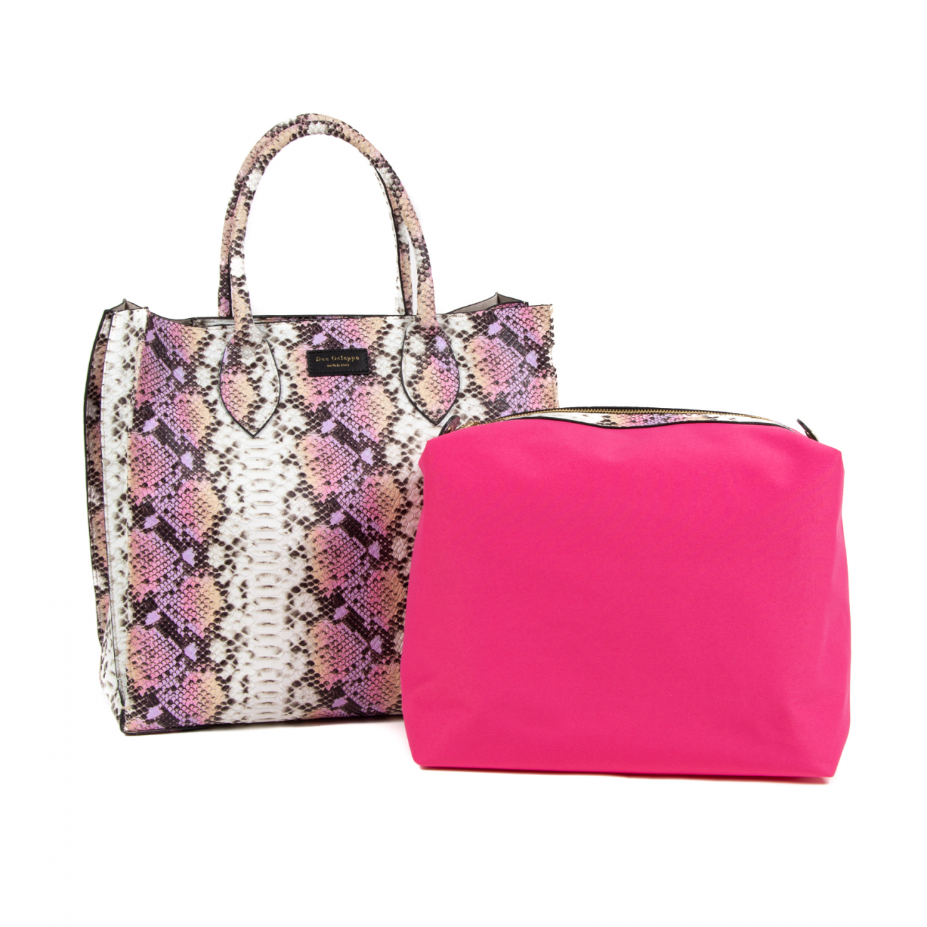 Dee Ocleppo Womens Holdall Tote DC207 PITONE ROSA