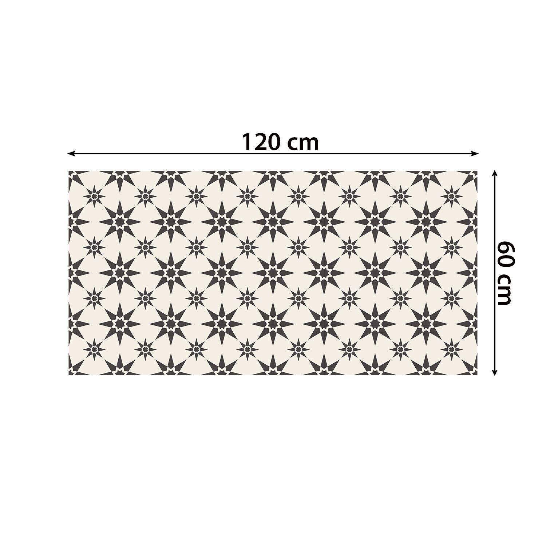 Alabaster and Pebble Granada Heritage Tiles Floor Stickers 120cm x 60 cm, Kitchen, Bathroom, Living room, Self-adhesive