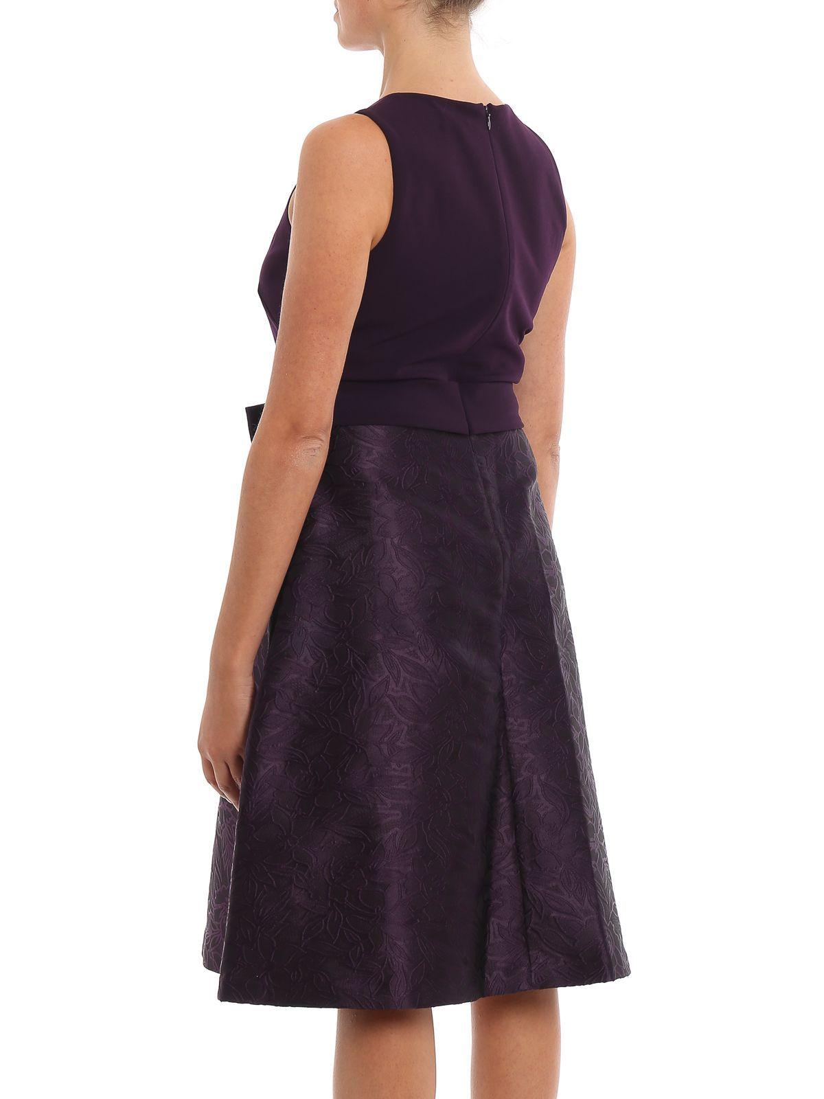 RALPH LAUREN WOMEN'S 253756526005 PURPLE POLYESTER DRESS