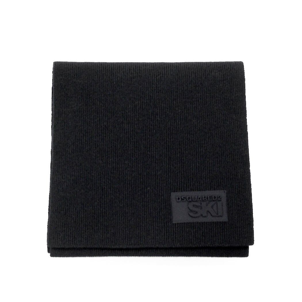 DSQUARED2 MEN'S KNM001101W02428M436 BLACK WOOL SCARF