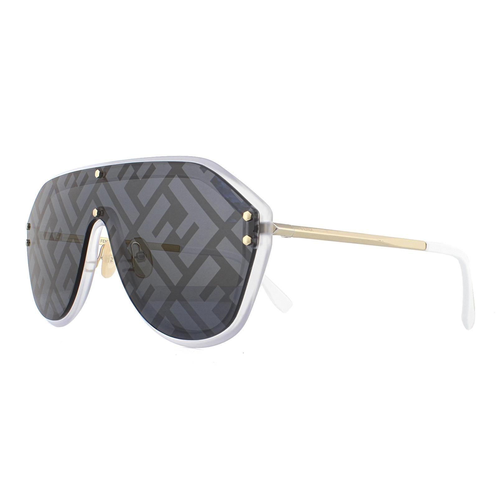 Fendi Sunglasses M0039/G/S 83I 7R Gold Silver Monogram Blue Silver