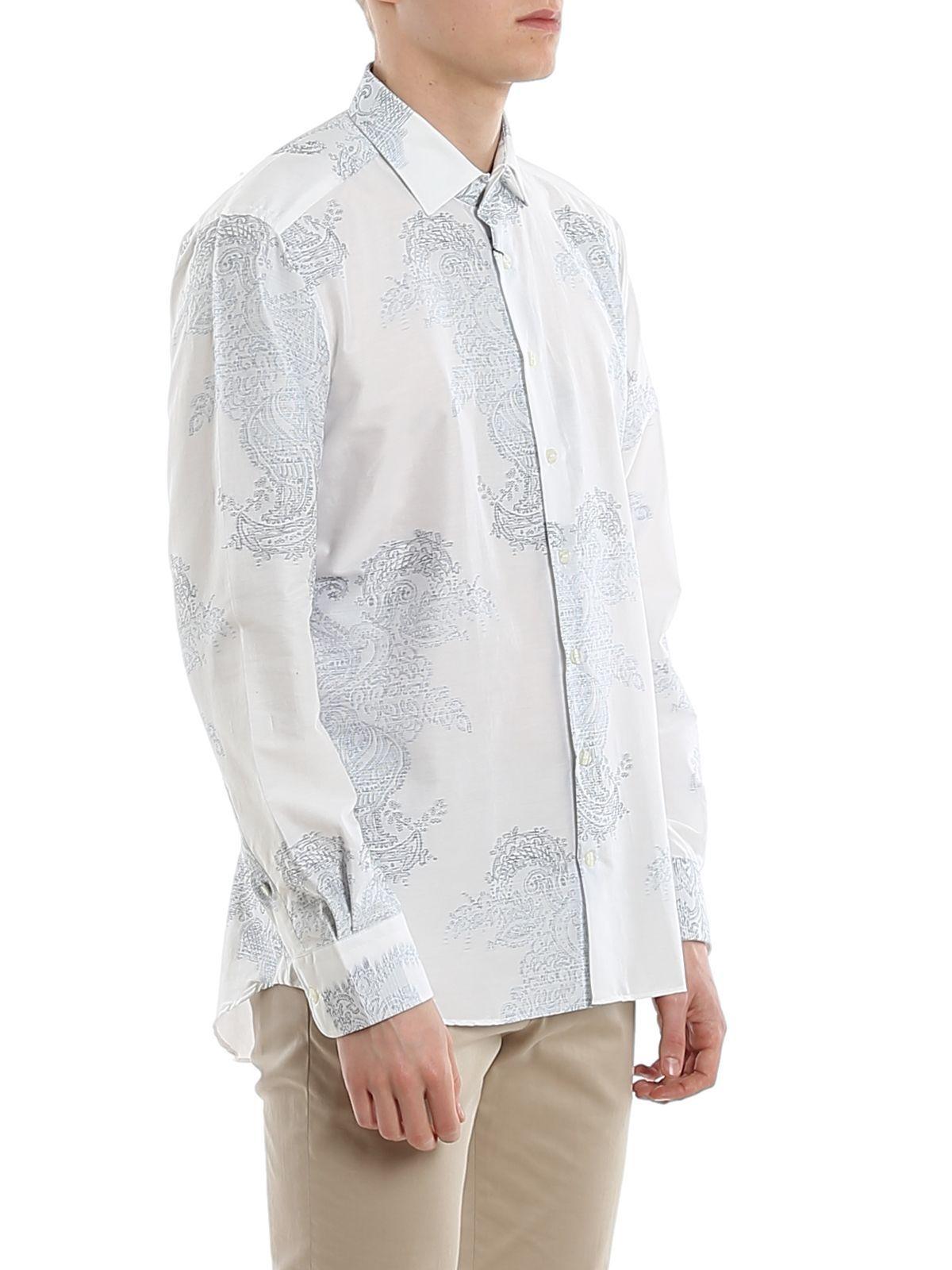ETRO MEN'S 129084797250 WHITE COTTON SHIRT