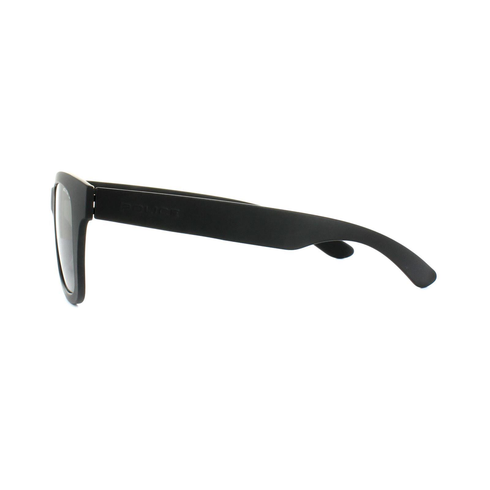 Police Sunglasses S1944 Exchange 1 U28P Matt Black Grey Polarized