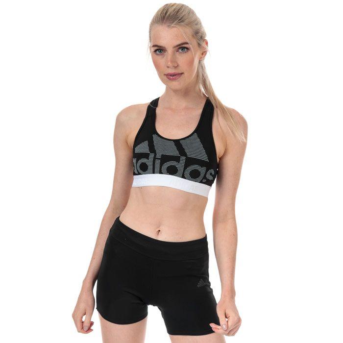 Women's adidas Don't Rest Alphaskin Bra in Black-White