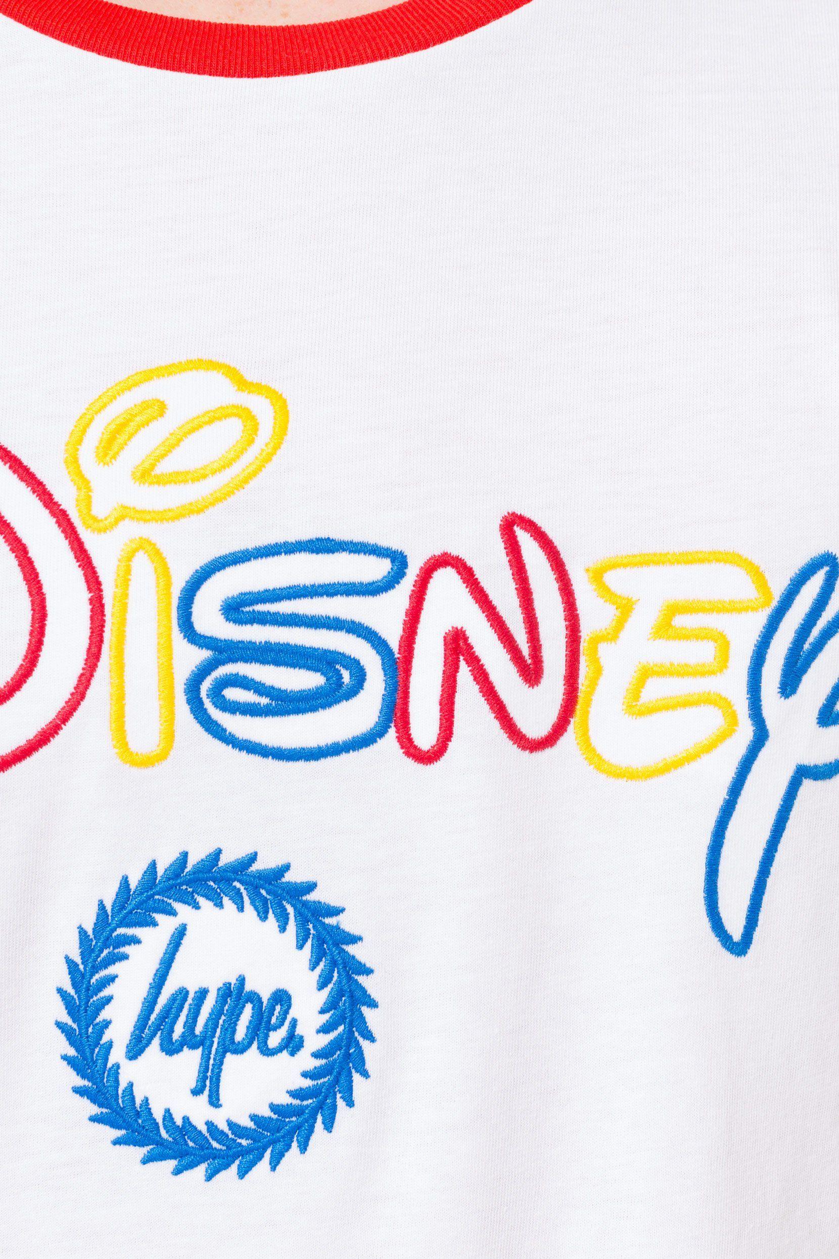 Hype Disney White Colourblock Kids T-Shirt