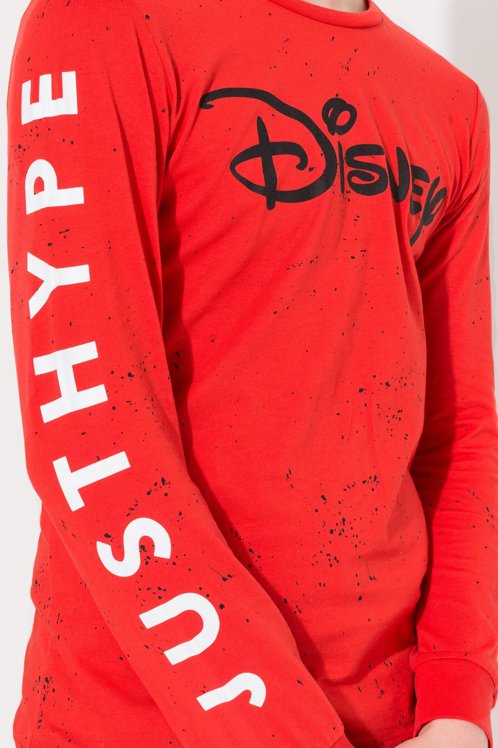 Hype Disney Red Splatter Kids L/S T-Shirt