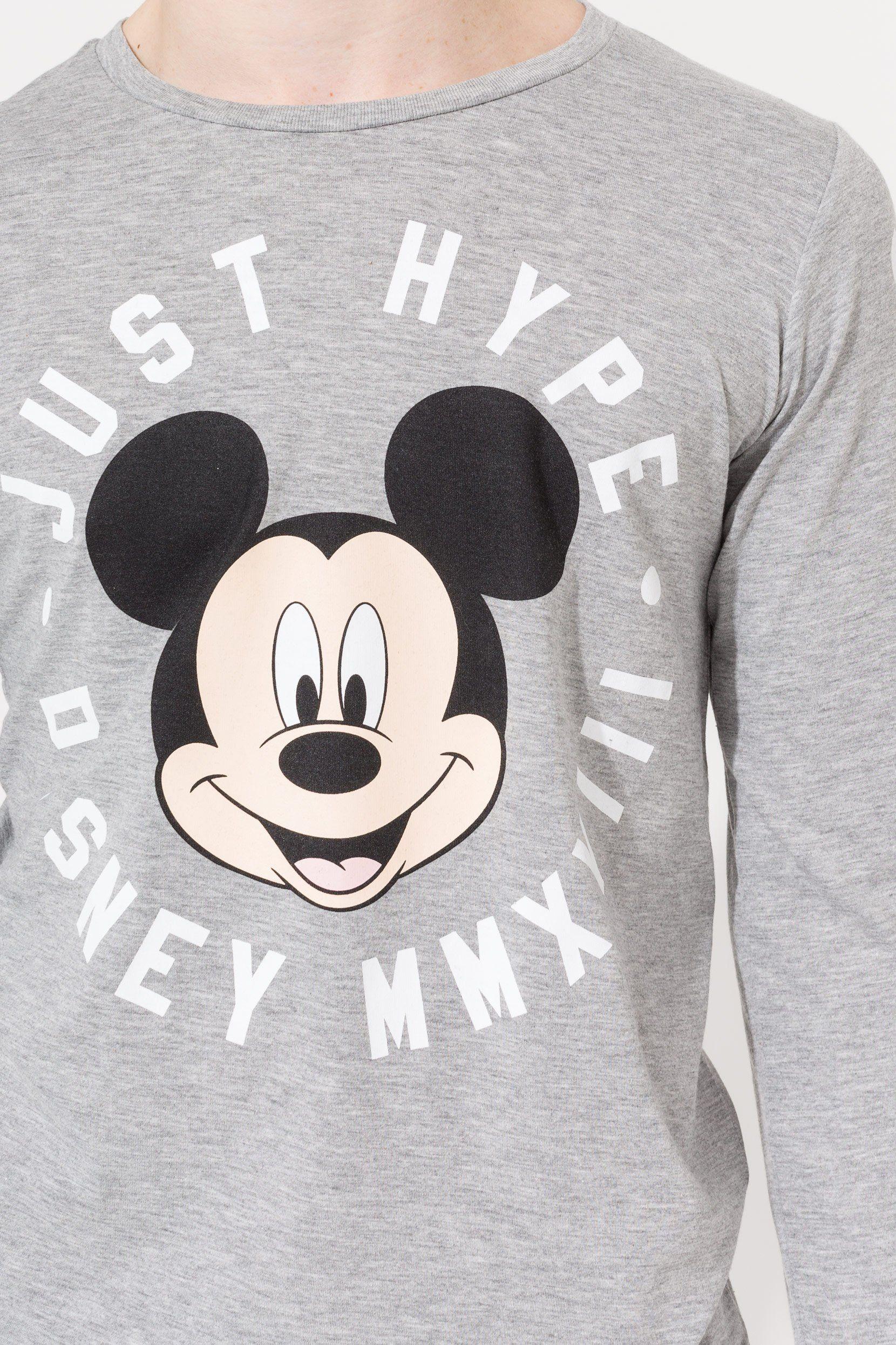 Disney Grey Mickey Circle Kids L/S T-Shirt