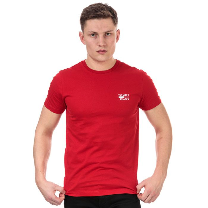 Men's Tommy Hilfiger TJM Chest Logo T-Shirt in Red
