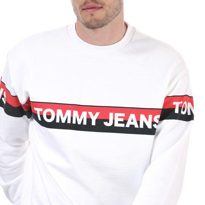 Tommy Hilfiger Men's Band Logo Sweatshirt in White