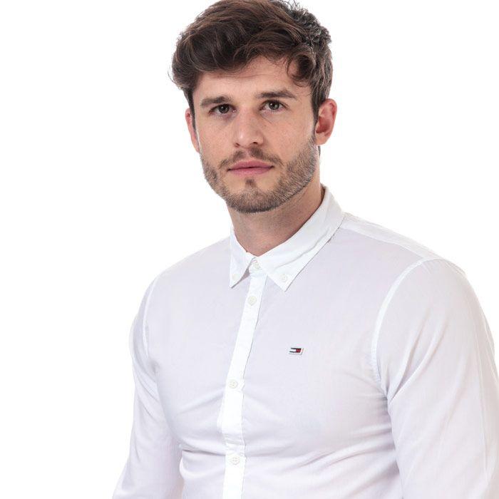 Men's Tommy Hilfiger Light Poplin Shirt in White