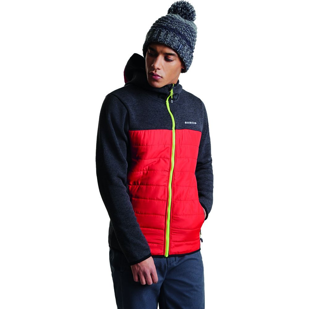 Dare 2b Mens Coalition Full Zip Knit Effect Quilted Jacket