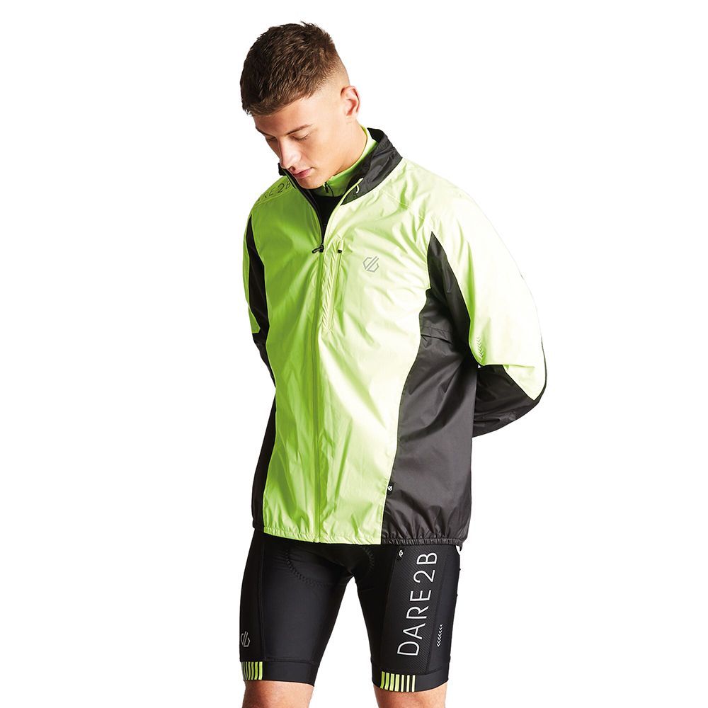 Dare 2b Mens Mediant Reflective Waterproof Cycling Jacket