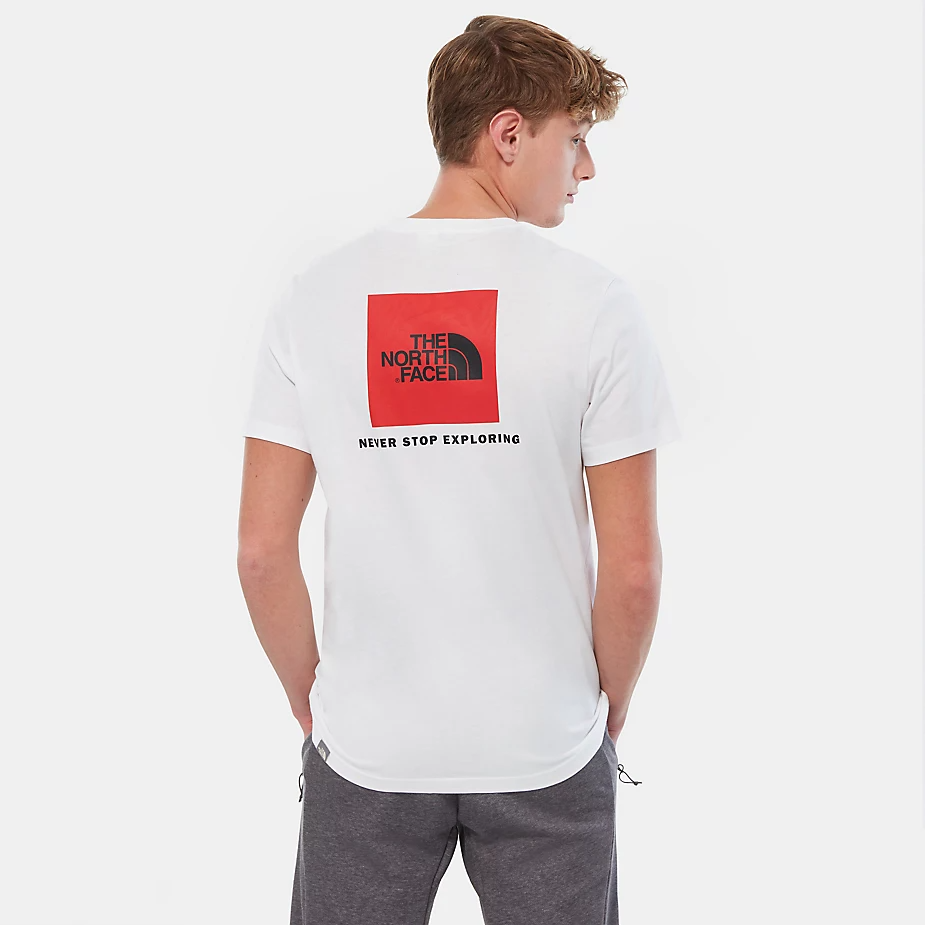 The North Face Men's Redbox Tee, White/Red
