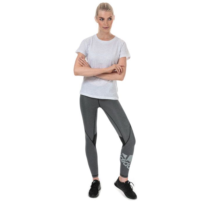 Women's adidas ID Winners Crew Neck T-Shirt in White marl