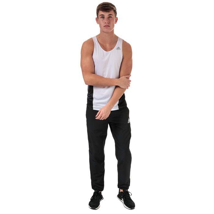 Men's adidas Sub 2 Singlet Vest White Black XSin White Black