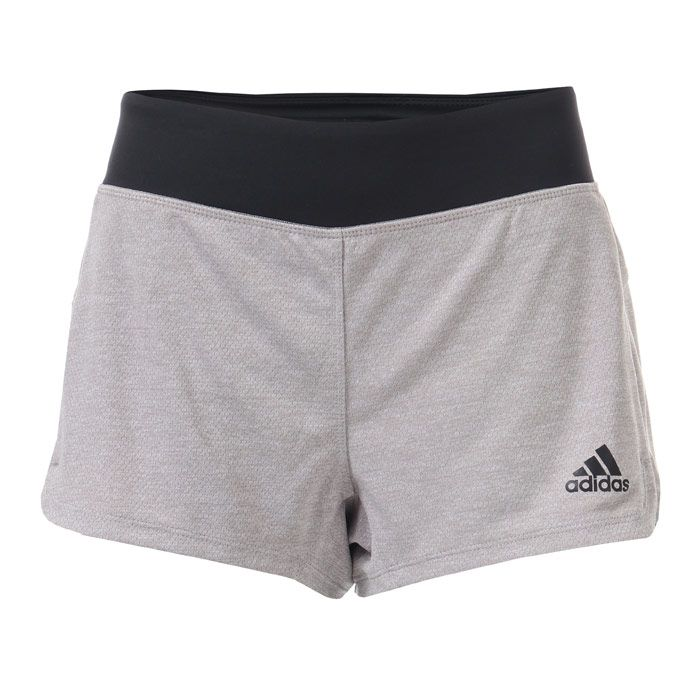 Women's adidas Soft Touch Shorts in Light Grey