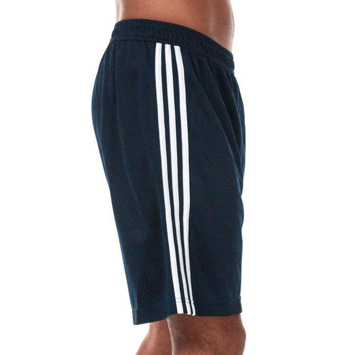 Men's adidas TAN Jacquard Shorts in Navy
