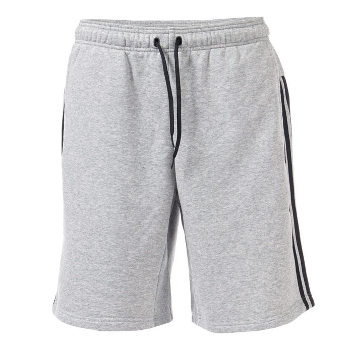 Men's adidas Must Have 3 Stripe French Terry Shorts in Grey