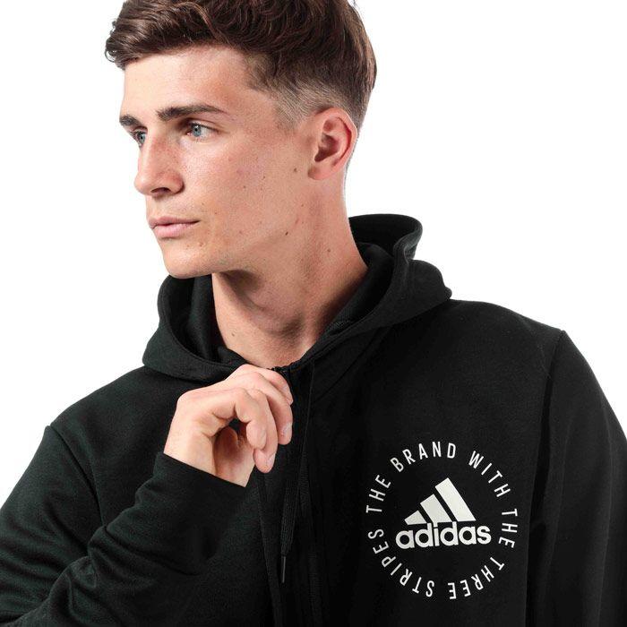 Men's adidas Sport Id Zip Hoodie in Black