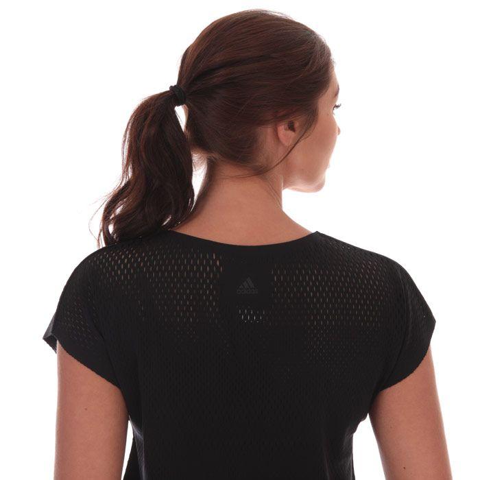 Women's adidas Warp Knit T-Shirt in Black