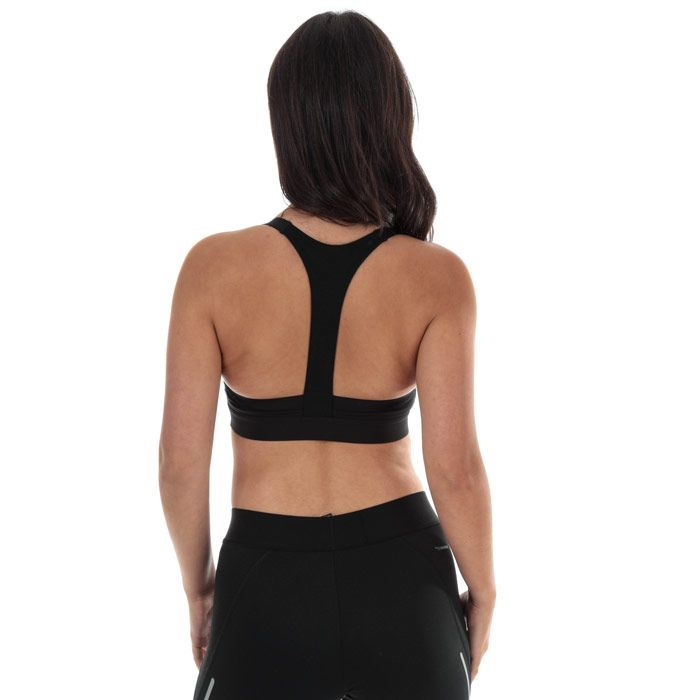 Women's adidas All Me 3-Stripes Sports Bra in Black