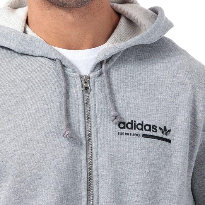Men's adidas Originals Kaval FZ Hoody in Grey
