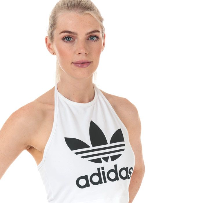 Women's adidas Originals Trefoil Tank in White