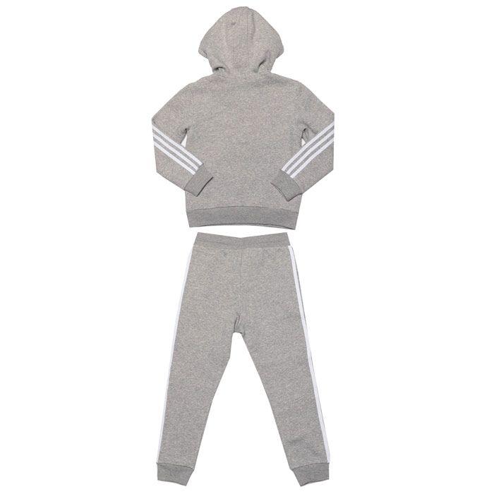 Girls' adidas Originals Infant Fleece Hoodie Set in Grey