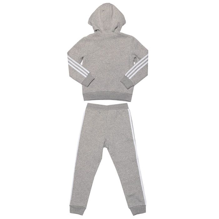 Girls' adidas Originals Junior Fleece Hoodie Set in Grey
