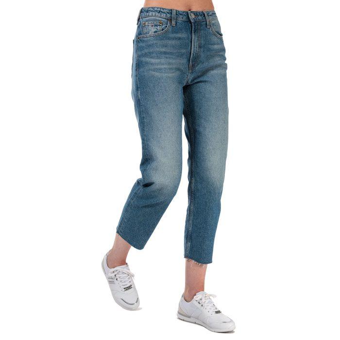 Tommy Hilfiger Women's Harper Straight Fit Stonewashed Jeans in Denim