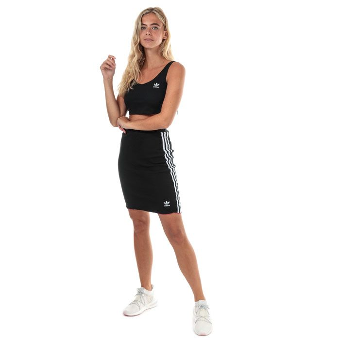 Women's adidas Originals Styling Complements Cropped Tank Top in Black