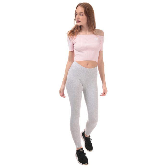 Women's adidas Originals Off-Shoulder T-Shirt in Pink