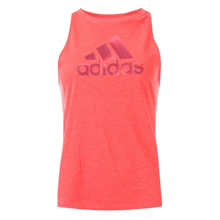 Women's adidas Boxy Badge Of Sport Tank Top in Red